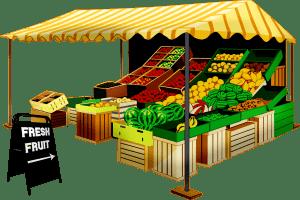 עמדת ירקות